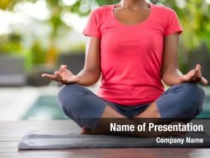 Lotus yoga meditation pose, female