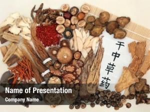 Medicine chinese herbal calligraphy script