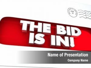 Contract bid envelope purchasing illustration