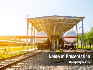Train railroad tank sunrise