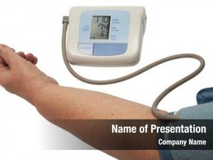 Pressure digital blood monitor white