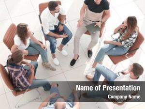 Sitting business team session team