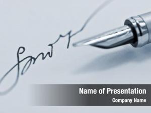 Close signature pen