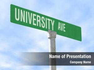 Sign, photo themed university ave