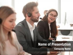Employees call center work clients
