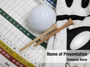 Scorecard blank golf golf glove,