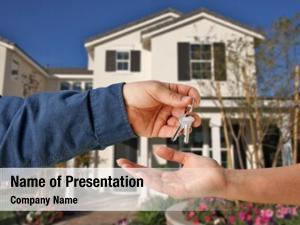 Keys handing over new home
