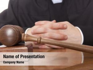 Man referee hammer judicial robes