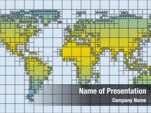 Square world map tiles rectangle
