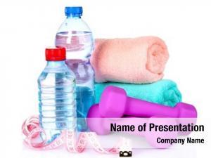 Water towel, dumbbells bottle white
