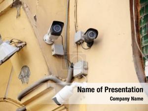 Wall cctv cameras