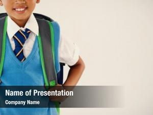 School portrait schoolboy uniform school