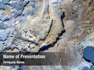 Aerial of a geothermal powerpoint background