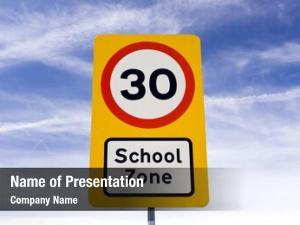 Zone school safety speed warning