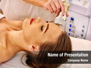 Woman close young receiving electroporation