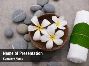 Bowl frangipani wooden stones ,rolled
