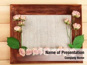 Dry frame beautiful flowers frame