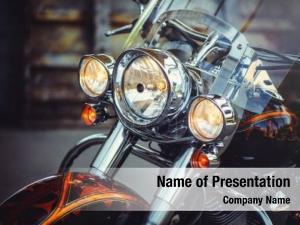 Motorcycle motorcycle road headlamp closeup