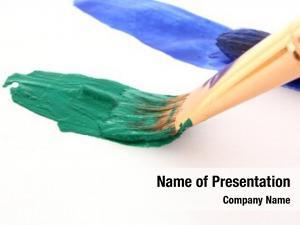 Color paint brushes paint