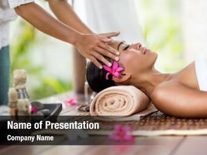 Facial spa massage, massage outdoor
