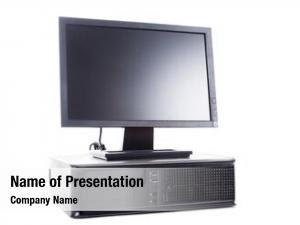 Desktop modern black computer lcd,