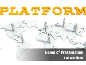 Global platform concept business team