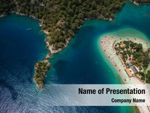 Beach aerial view oludeniz blue