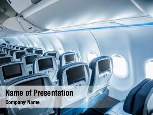 Airplane interior empty