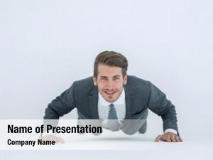 Point businessman starting