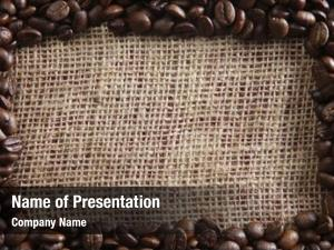 Arrange coffee bean form frame