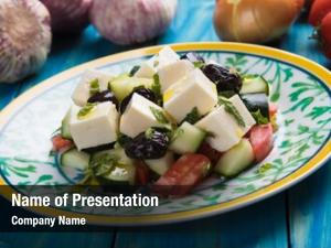 Feta greek salad cheese cubes