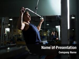 Wide grip bodybuilding sport fitness