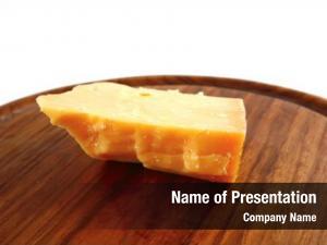 Swiss piece yellow cheese wooden