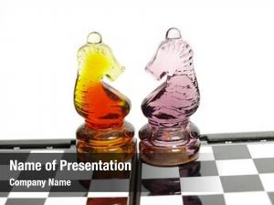 Made colorful chess glass chess