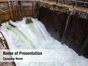 Filling lock chamber water upstream