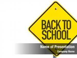 Sign back school white