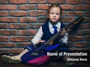 Heavy metal modern little girl