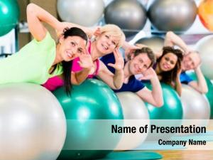 Gym sport fitness diverse group