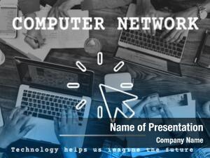 Modern computer network technology concept