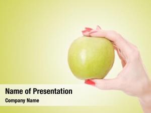 Apple fresh green hand apple