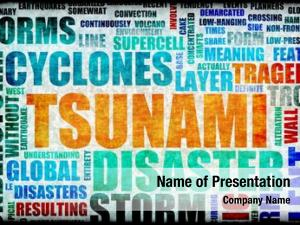 Disaster tsunami natural art background