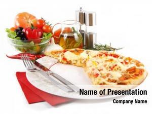 Paprika pizza tuna over white