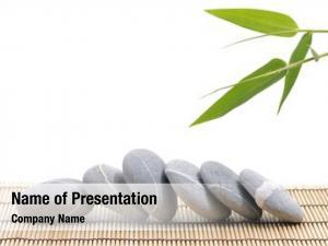 Stones bamboo zen mat