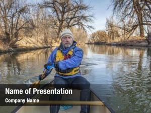 Paddler senior canoe canoe cache