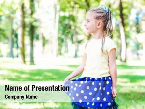 Blond little smiling girl sunshine