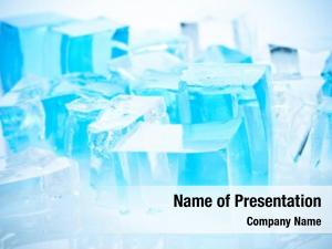 Cubes ice blue