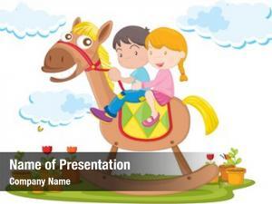 Toy kids riding camel