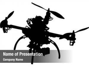 Equipment quadrocopter photo white
