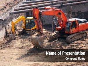 Excavators big small