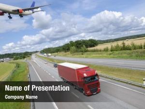 Air transport concept, land, truck